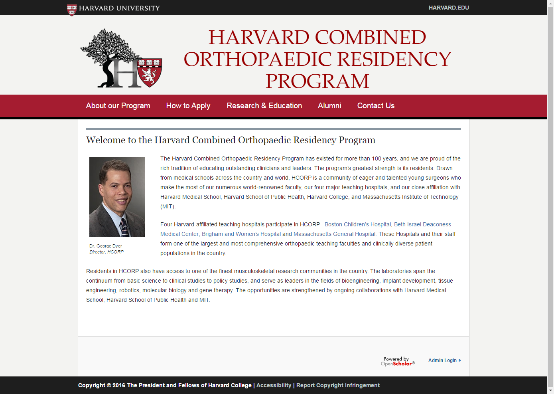 Harvard Combined Orthopaedic Residency Program – Imaginus